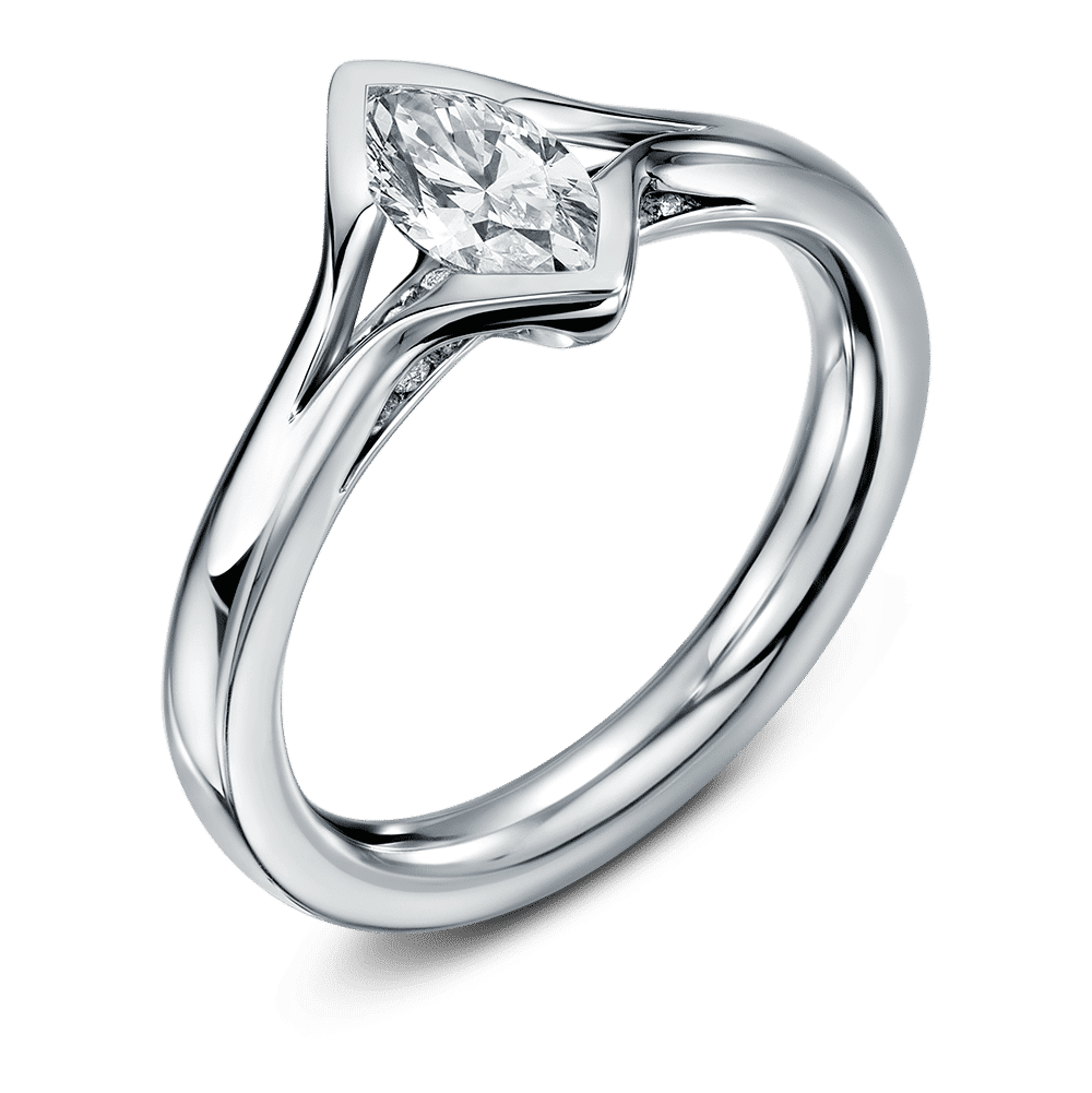marquis cut engagement rings